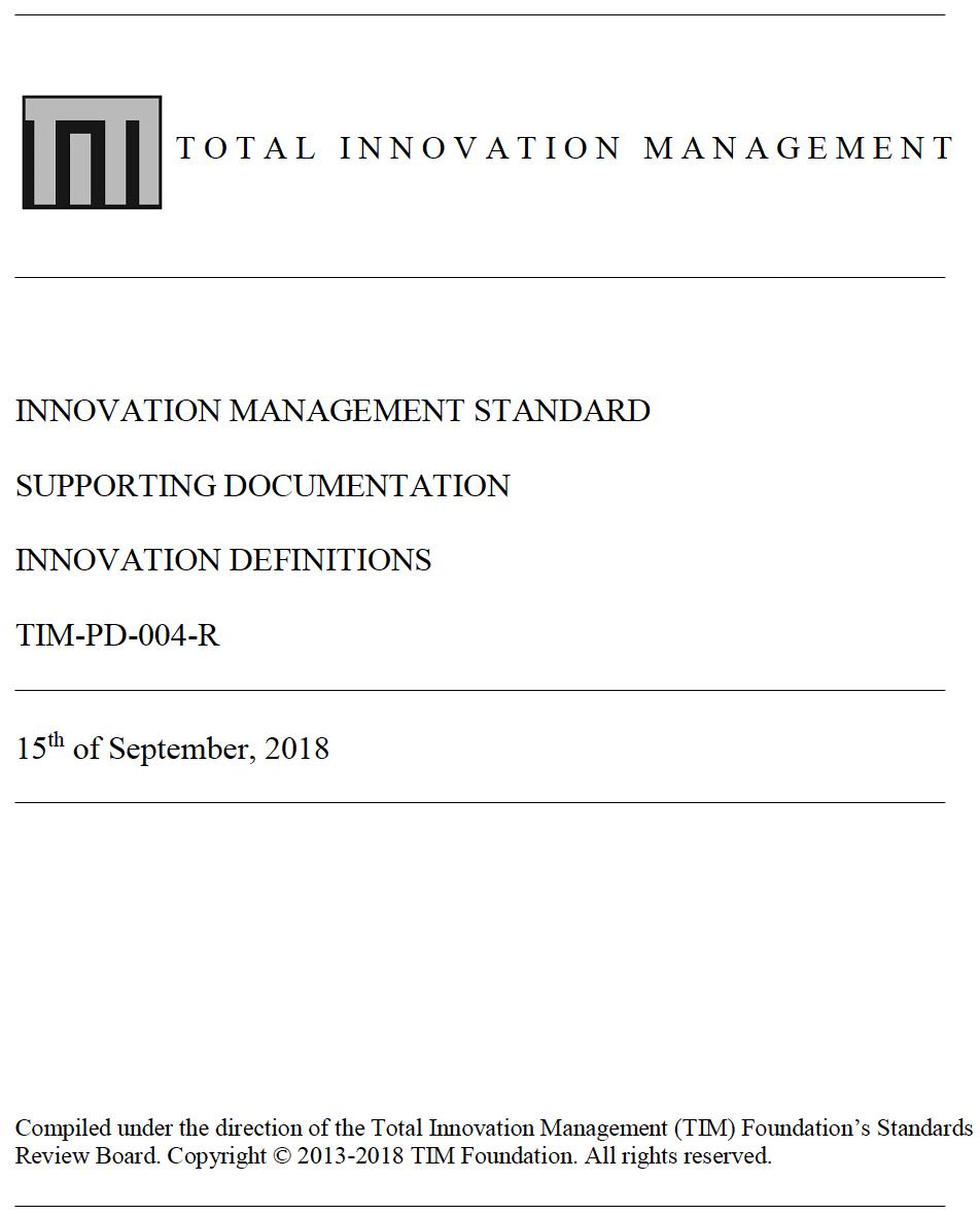 heißer verkauf billig marktfähig eine große Auswahl an Modellen Innovation Definitions TIM-PD-004-R